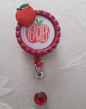 Teacher Bottle Cap Badge