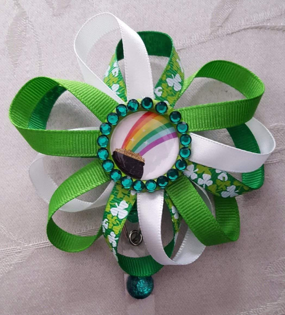 Pot of Gold St  Patrick's Day Badge