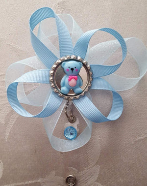 Baby Blue Bear Loopy Flower