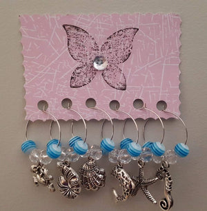 Sea Creatures Wine Charms