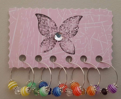 Rainbow Wine Charms