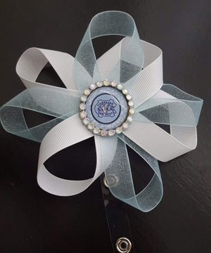 Bedazzled Carolina Tar Heels Loopy Flower Badge