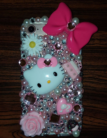 Bedazzled Pink Hello Kitty iPhone 7 case