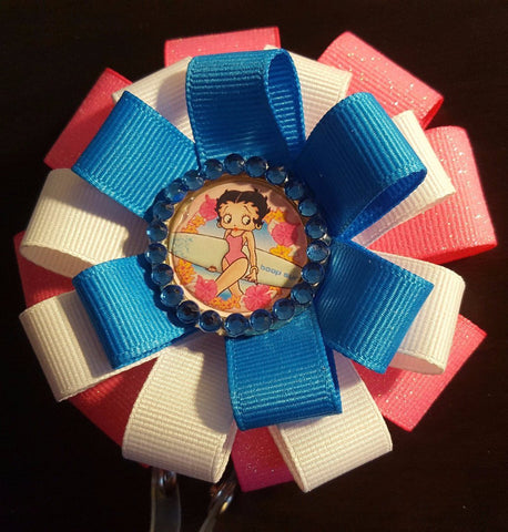 Image of Surf Time Betty Boop Loopy Flower Badge