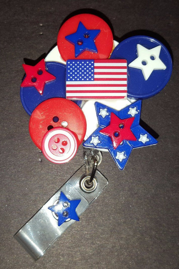 July 4th Button Badge