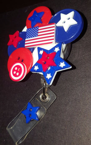 Image of July 4th Button Badge