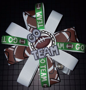 Go Team Customizable Loopy Flower Badge