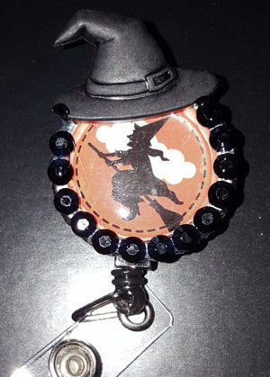 Bedazzled Witch Bottle Cap Badge