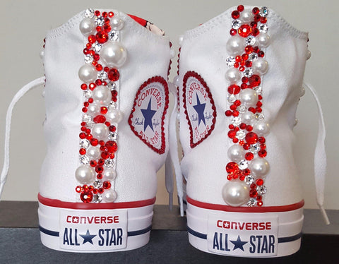 Image of Bedazzled BETTY BOOP High Top ALL STAR Converses- Special Edition.