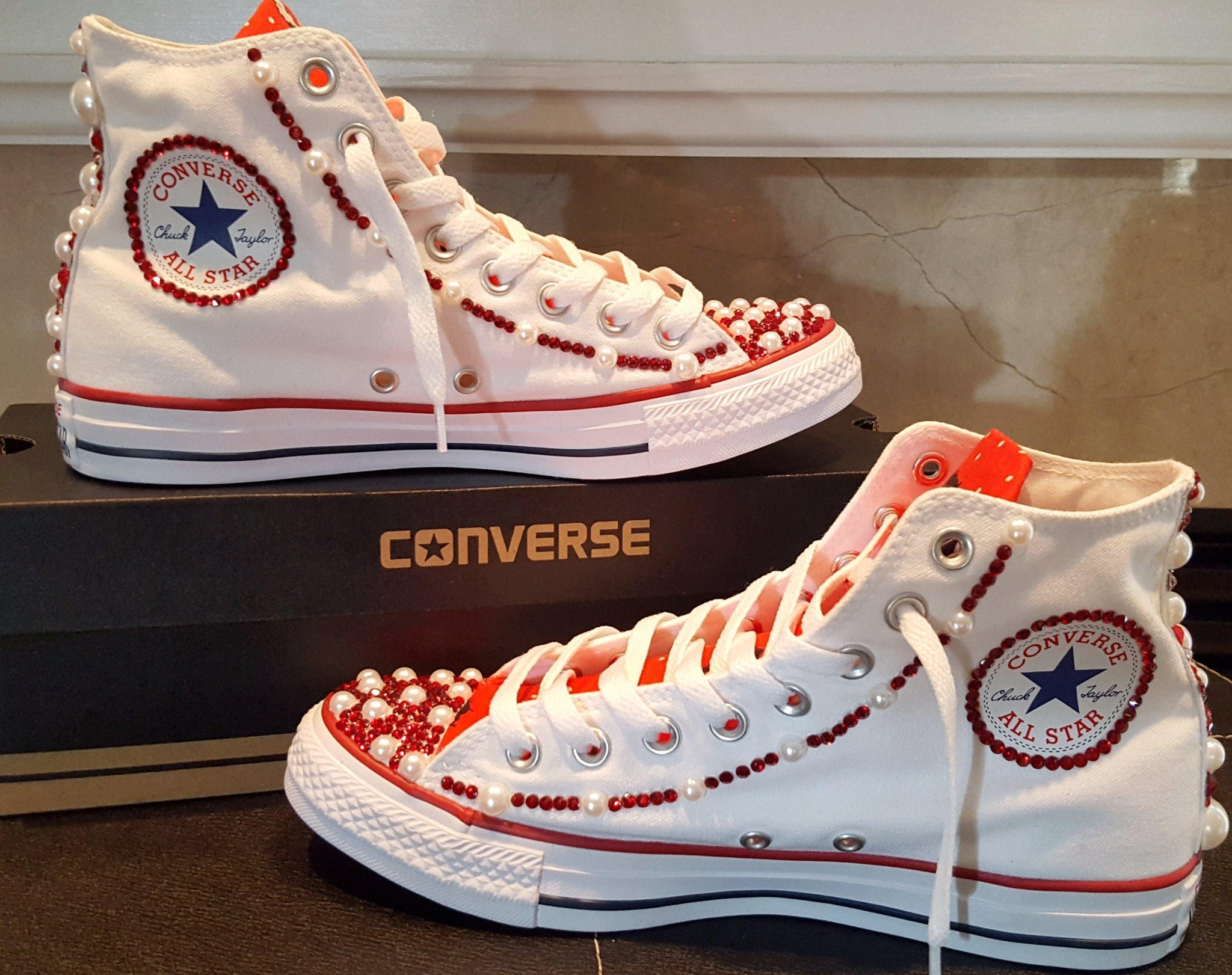 Popular Bedazzled BETTY BOOP High Top ALL STAR Converses- Special Edition  EE01