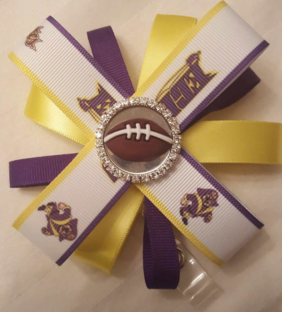 Bedazzled ECU Pirates Loopy Flower Badge