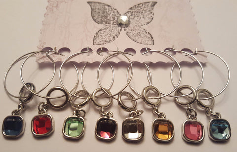 Bejeweled Wine Charm Set