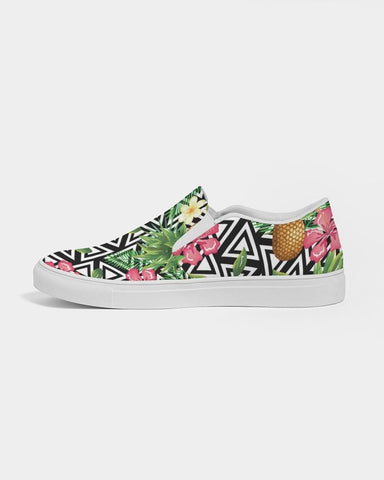 Image of TROPICAL FLOWER PINEAPPLE SLIP ON SHOE
