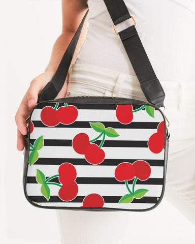 Image of CHERRY STRIPED CROSS-BODY BAG