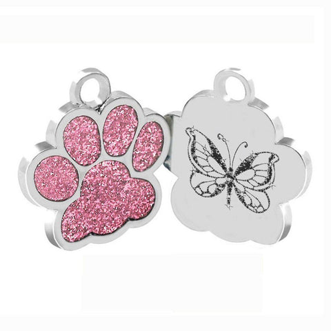 Glitter Paw Print Dog/Cat Collar Charm
