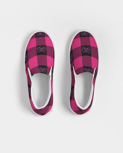 GMB Pink and Black Plaid Slip-On Shoe