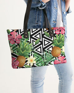 TROPICAL FLOWER PINEAPPLE TOTE