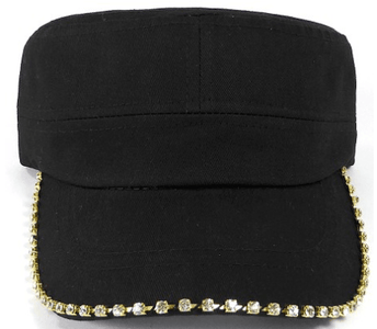 Black Bling Cadet Cap