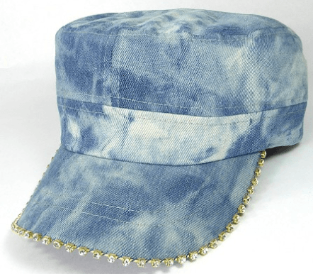 Stone Splash Denim Bling Cadet Cap