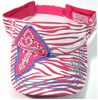 Pink Zebra Cross Visor