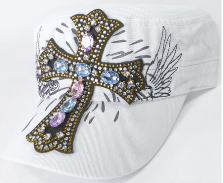 Angelic Cross Cadet Cap