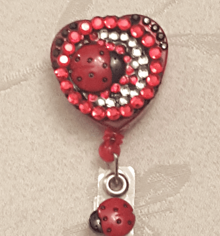 Image of Bedazzled Ladybug Badge