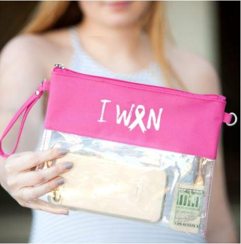 Image of I Won Hot Pink Clear Purse