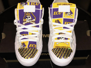 Bedazzled ECU Pirates Low Top ALL STAR Converses
