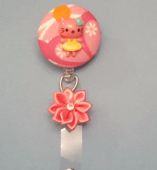 Hello Kitty Fabric Cover Button Badge