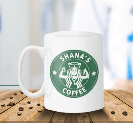 Personalized Nurse White Coffee Mug