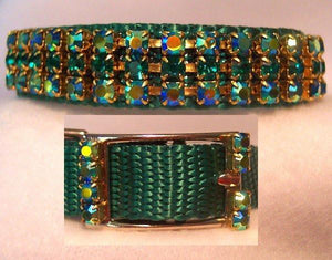 Angel in Emeralds Dog Collar