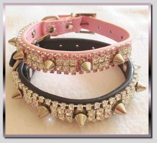 Glamour and Spikes Dog Collar
