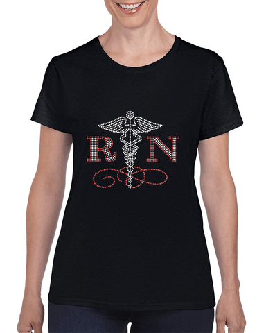 Image of RN Rhinestone T-Shirt