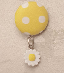 Sunshine Fabric Cover Button Badge