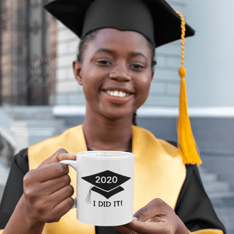 Image of I did it 2020 Coffee Mug White Coffee Mug