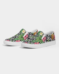 TROPICAL FLOWER PINEAPPLE SLIP ON SHOE