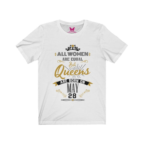 Image of Queens are Born in May Personalized Date T-Shirt