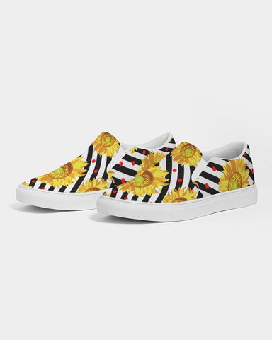 Image of Striped Sunflower Slip On Shoe