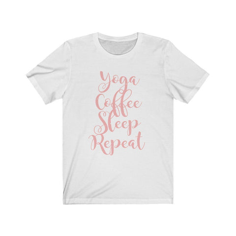 Yoga, Coffee, Sleep, Repeat Jersey Short Sleeve Tee