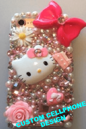 "CUSTOM BEDAZZLED ""CELL PHONE 