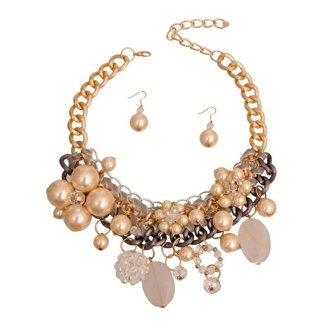 Cream Necklace Sets