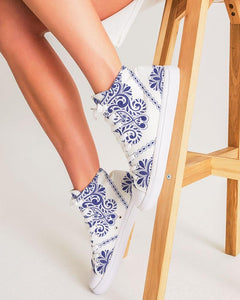 "Blue Floral ""Something Blue"" High Top Shoe"