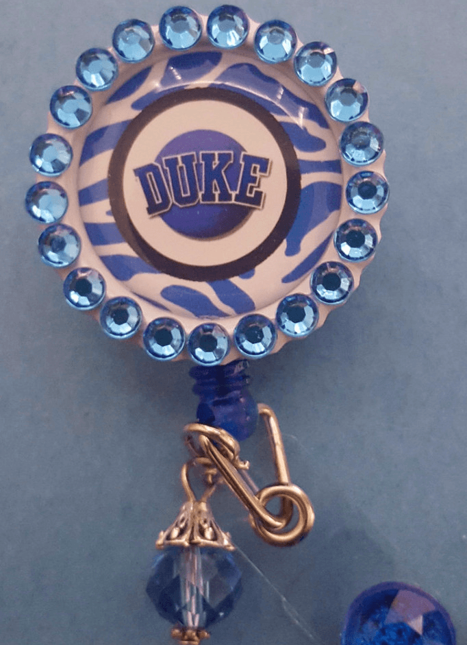 Bedazzled Duke Bottle Cap Badge