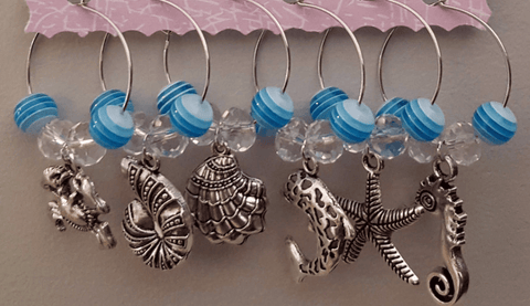 Image of Sea Creatures Wine Charms