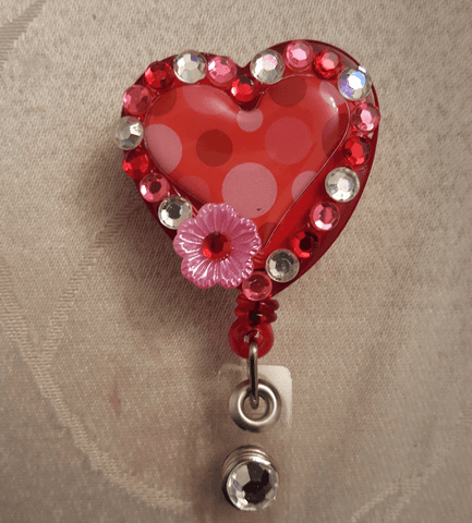 Bedazzled Valentine's Badge