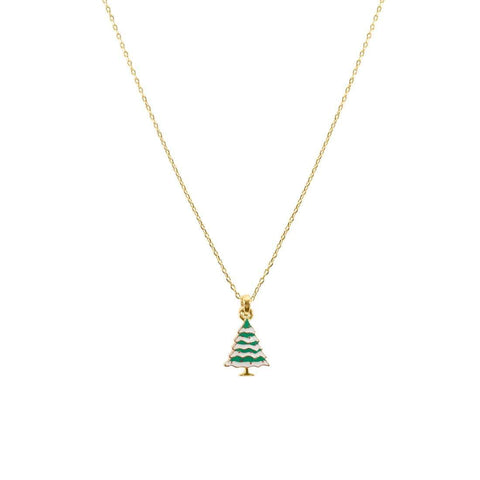 Enamel Christmas Tree Necklace