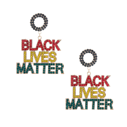 BLACK LIVES MATTER Multi Sparkle Earrings