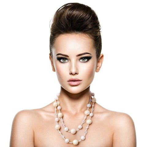 Image of Ivory Pearl Necklace Set