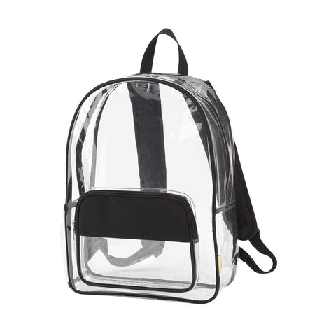 Image of Black Clear Backpack