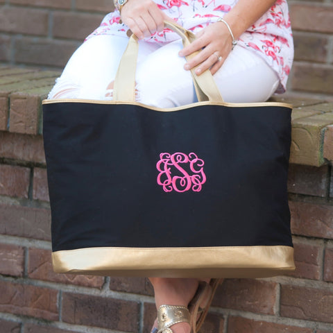 Image of Black Cabana Tote